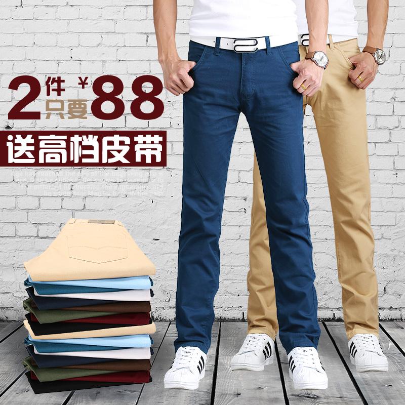 Зима мальчиков толстые Корейский случайных брюки мужские брюки тонкие ноги прямо Брюки мужские брюки летом и осенью летом