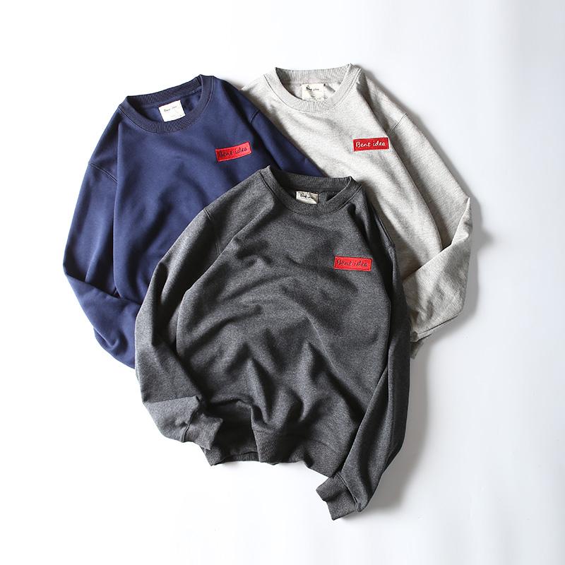 Падение к 2015 году новых улиц Европы и Ральф Лорен сплошной цвет круглый шею свитер стрит Корейский моды свитер куртки прилив