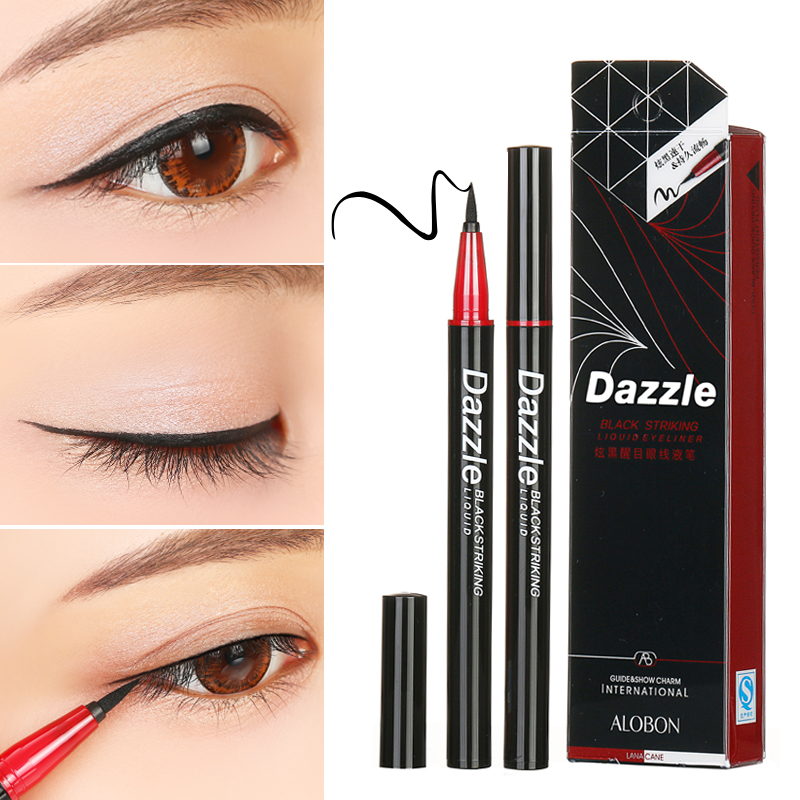 Yah bang Dazzle black cool black eye painting liquid eyeliner, hard head dry, waterproof and not dyed.