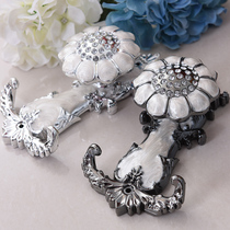 Royal feather Curtain hook wall hook hanging ball curtain accessories fixed hook curtain wall hook wall metal strap tie Rope
