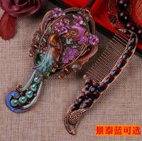 Подлинный перегородчатой зеркало гребень установите творческий подарок романтический практический женщина друг подруга подруга