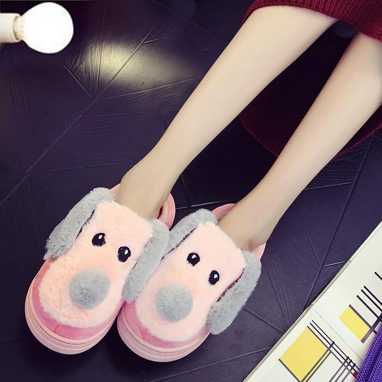 棉拖鞋女 全包跟卡通可愛情侶男厚底保暖居家居棉鞋冬天毛拖鞋