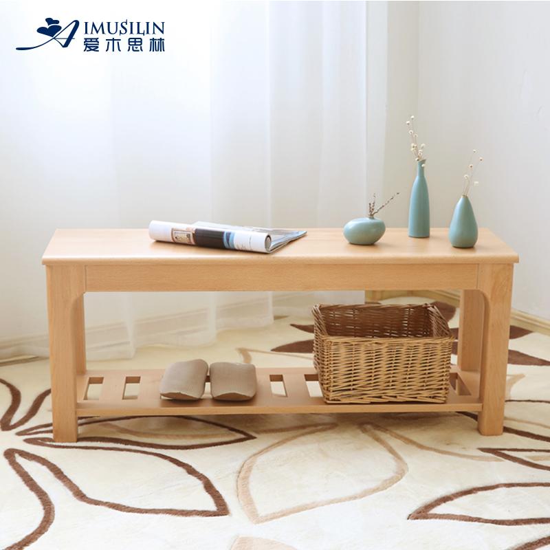 愛木思林 日式櫸木長凳長條凳實木床尾凳換鞋凳 簡約 餐廳餐凳