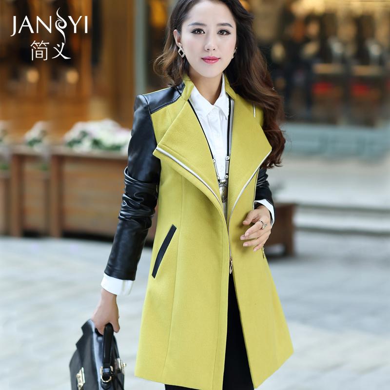 Цзянь Yimao пальто женщина долго утолщение 2015 осень собирает новые корейской версии self в NH пальто ветровка