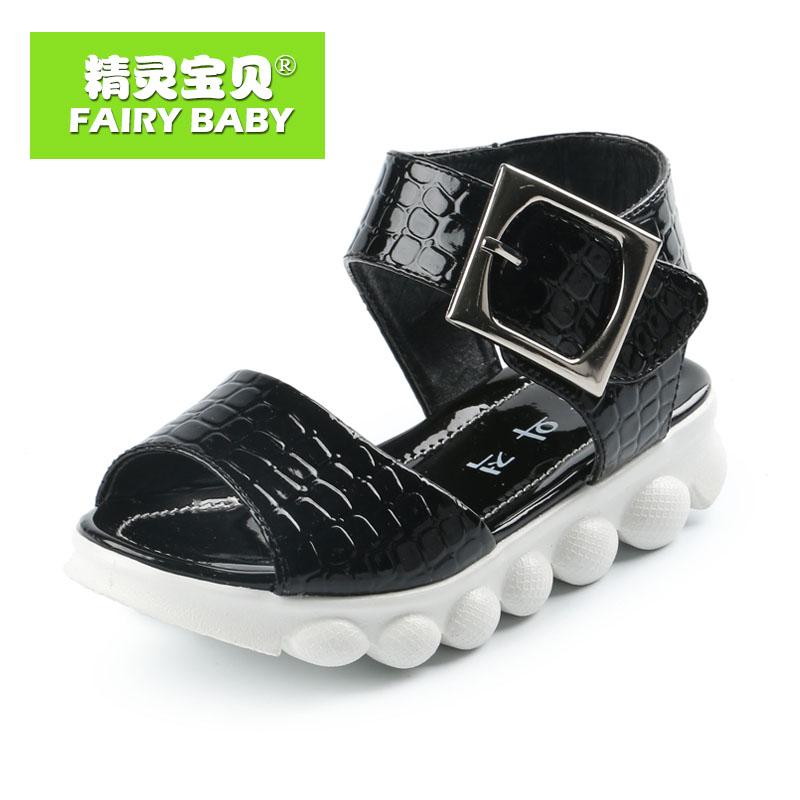 Эльф детка аутентичные обувь лето стилей в стильный толстые подошвы детей женского пола для легкий комфорт сандалии