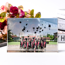 Graduation group photograph crystal like photo custom classmate Party souvenir gift custom wedding photo personality