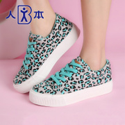 Men sneakers women autumn colorful Leopard print flat shoes take Europe and the round head shoe women's shoes
