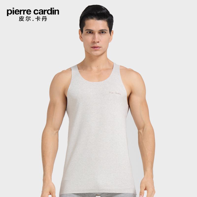 皮尔卡丹内衣 专柜同款P53962 棉冰丝无痕窄肩打底夏青年男士背心