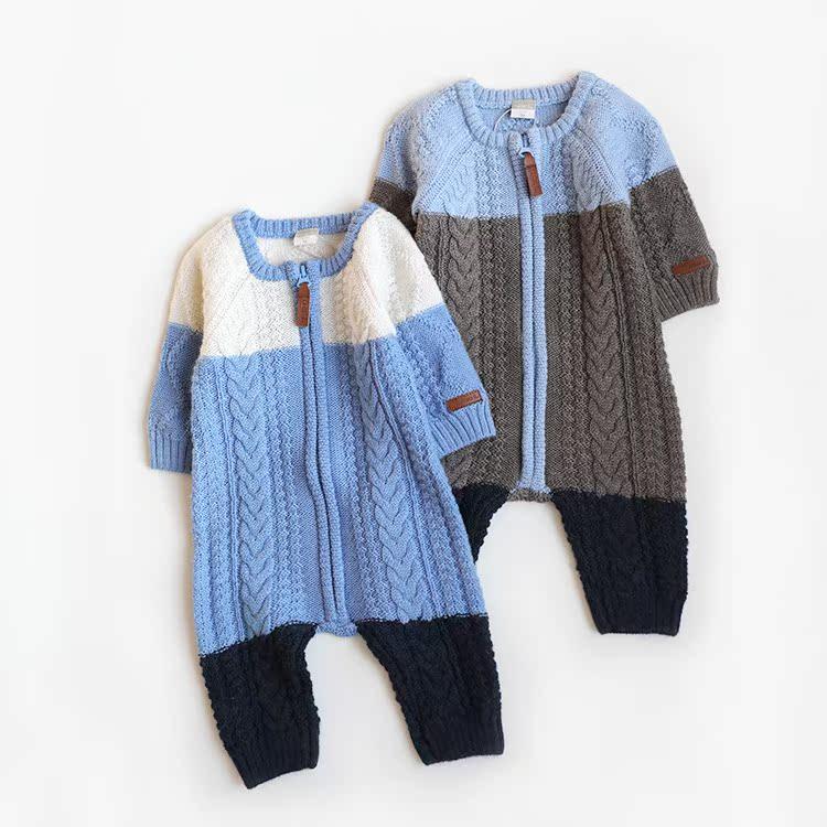 Onesies младенцев baby одежда датских детей с Шерстяная пряжа трикотажная одежда комбинезон HA, восхождение одежду