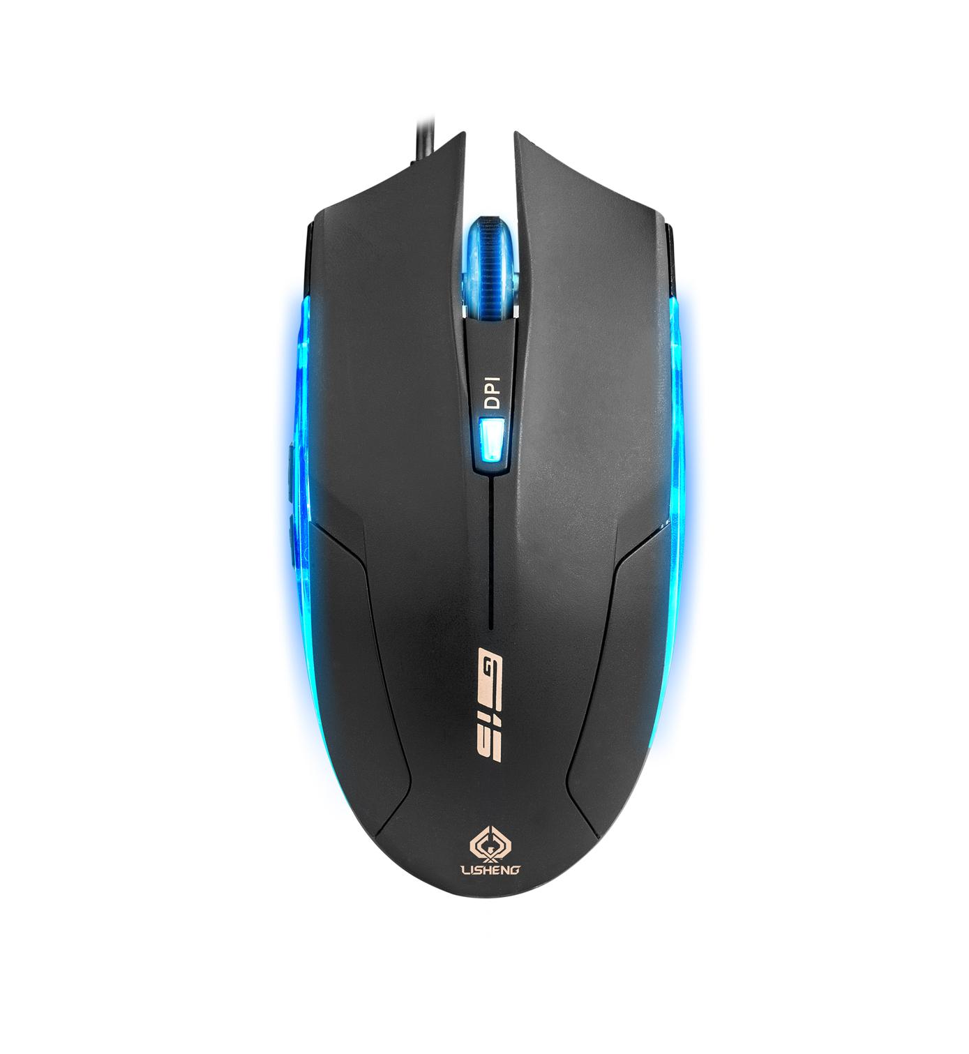 力勝G15 滑鼠 CF LOL 有線游戲滑鼠 筆記本usb電腦 電競送滑鼠墊