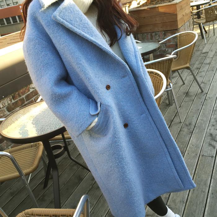В осени 2016 новых корейских женщин шерсть пальто женщин длинные твидовые куртки пальто малых костюм женщин U88