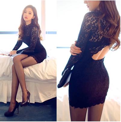 Осень 2014 картридж новой корейской версии женщин Южной Кореи ночной клуб сексуальный с тонкий пакеты хип талии платье от Kupinatao