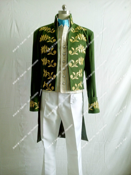 Disney Cinderella movie Prince Charming Prince coat Cosplay dress