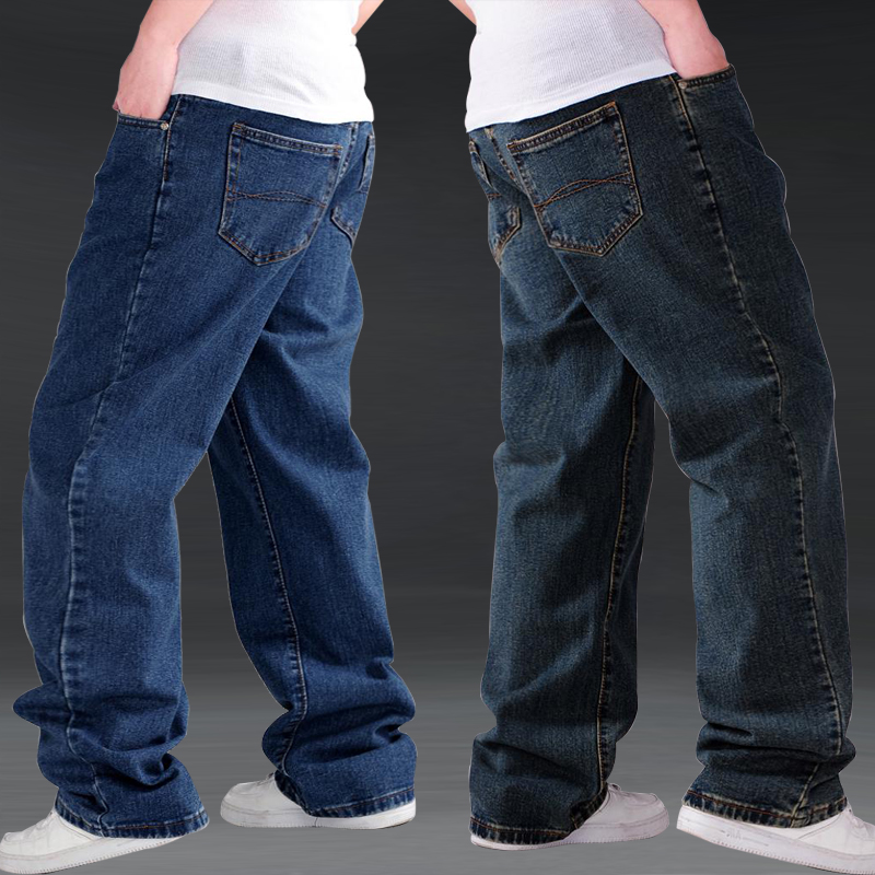 Autumn new jeans mens loose and fat increase mens large size jeans pants fat mens pants fashion