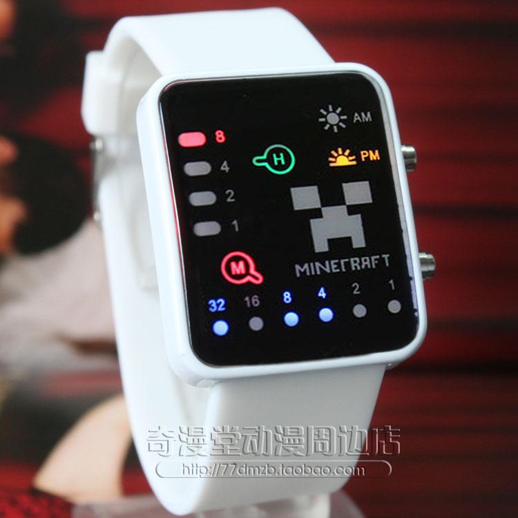 В мире Minecraft лианы я тянуть лямку боится JJ Джокер лицо привело свет часы мужчин и женщин мода часы