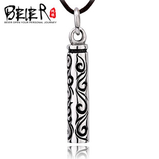 925 silver pendant creative personality influx of people retro Thai silver Gothic style column men necklace jewelry Faerie tide