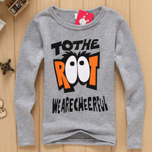 The new 2015 ZhongTong T-shirt render children render unlined upper garment Round collar baby clothes girls boys autumn wear long sleeve T-shirt