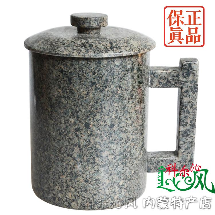 三皇冠信誉老店内蒙中华麦饭石凉水杯 1000毫升大容量 家用大杯子