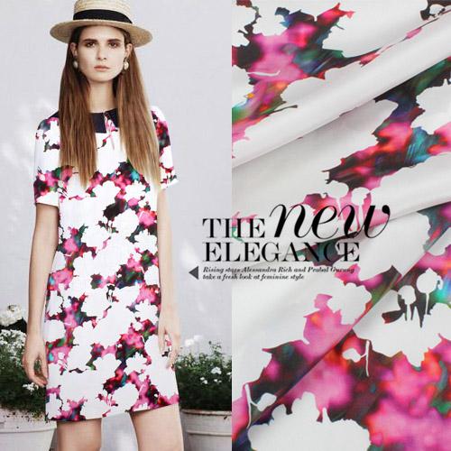 15 Новая цифровая печать в ранней весной платья, стрейч шелковые Креп де шин Ткани шелковые ткани шелковые Креп де шин