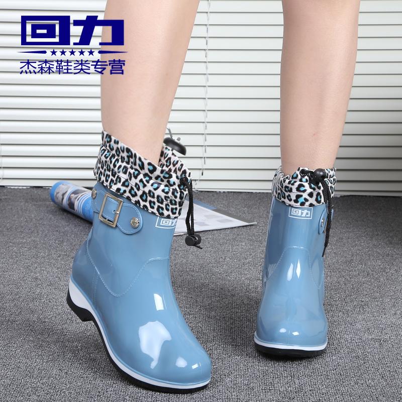 Аутентичные Шанхай воин сапоги дамы дождя сапоги, Галоши галош Водонепроницаемая обувь трубки и вплоть до держать тепло в зимние сапоги