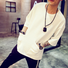 Original han edition bat sleeve summer joker loose man 7 minutes of sleeve T-shirt half wind short-sleeved t-shirts tide male port