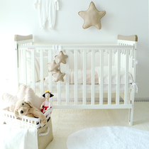 Mu yi original Cotton baby bedding Seven pieces set can be disassembly and washing baby bed kit baby bed circumference