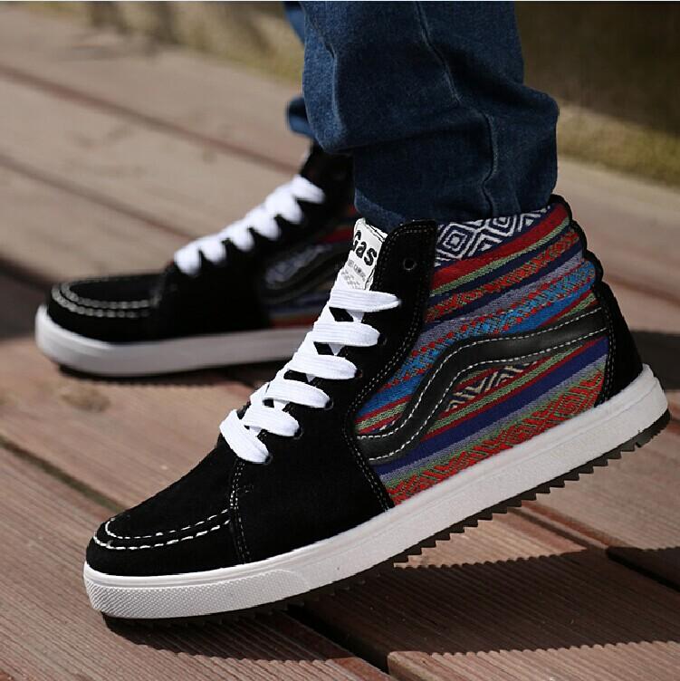 Корейская версия мужской обуви высокой эспадрильи британской молодежи тенденции дышащие мужчин и туфли обувь Обувь Молодежная обувь