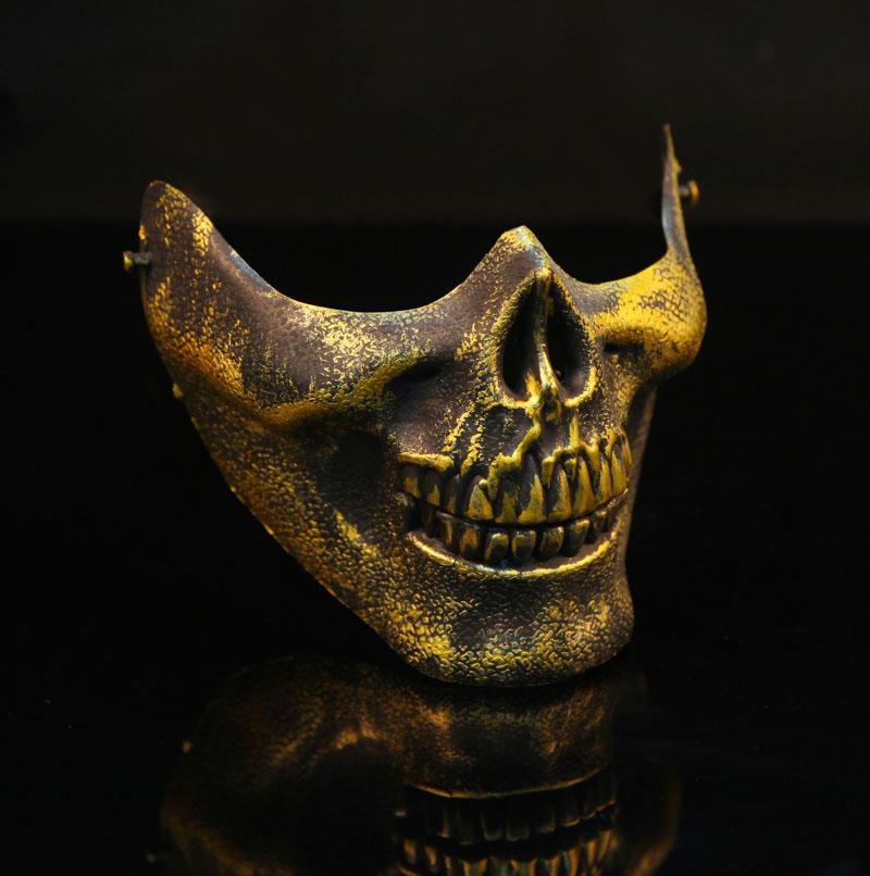 Люблю фантазии американской Скелет воины 3 призрак половину лица маска CS армии вентилятор поле Маска ужаса