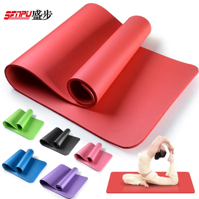 盛步瑜伽墊加厚NBR健身墊初學無味防滑10mm加長 墊瑜珈墊子
