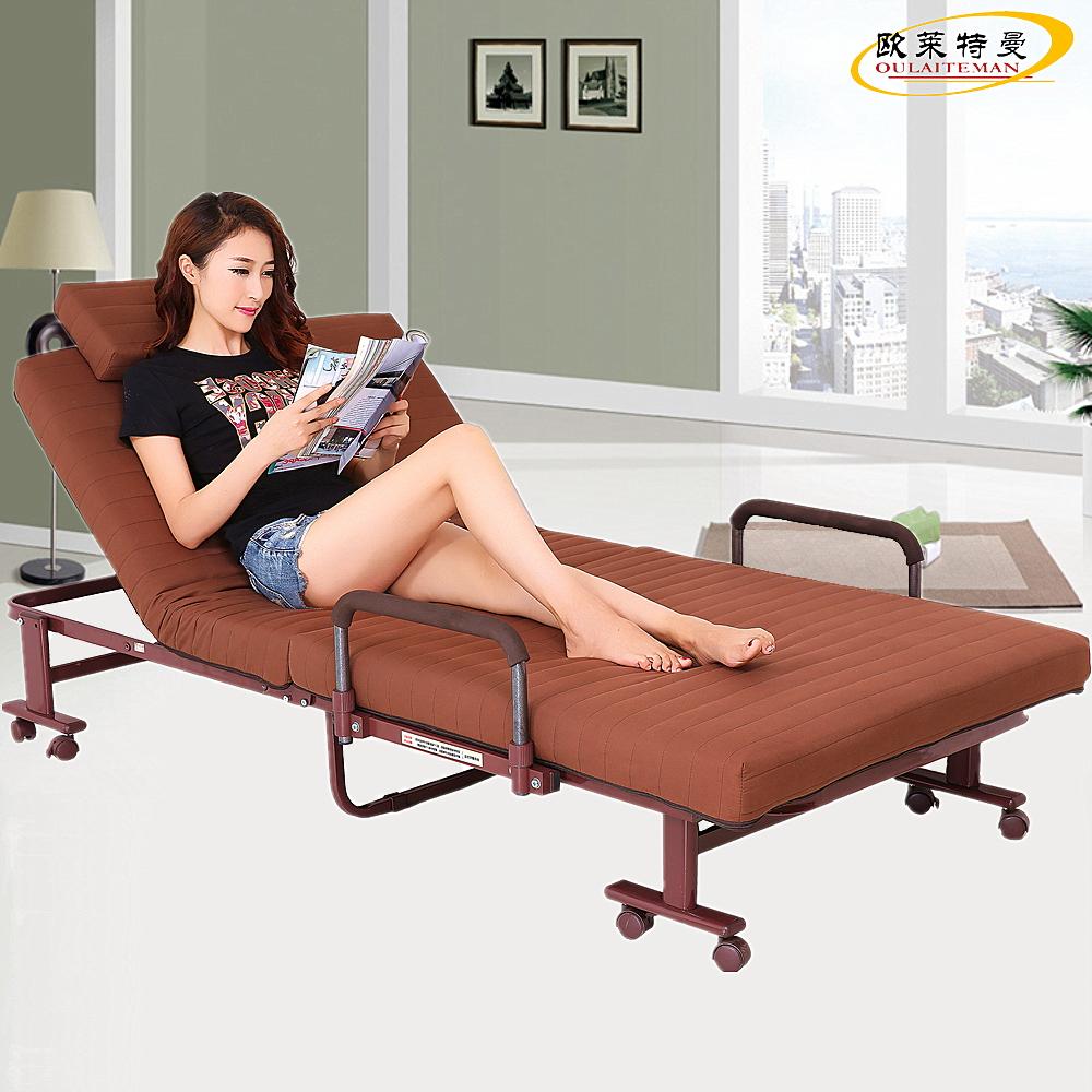 欧莱特曼免安装折叠床 单人双人床 办公室午休午睡保姆陪护休息床