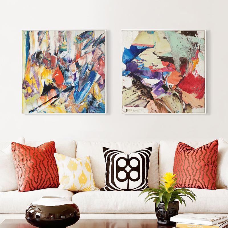 撕裂抽象藝術背景畫