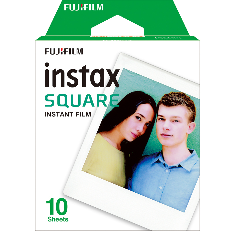 10月15日最新优惠富士拍立得相纸 instax SQUARE SQ10 方形相纸白边10张