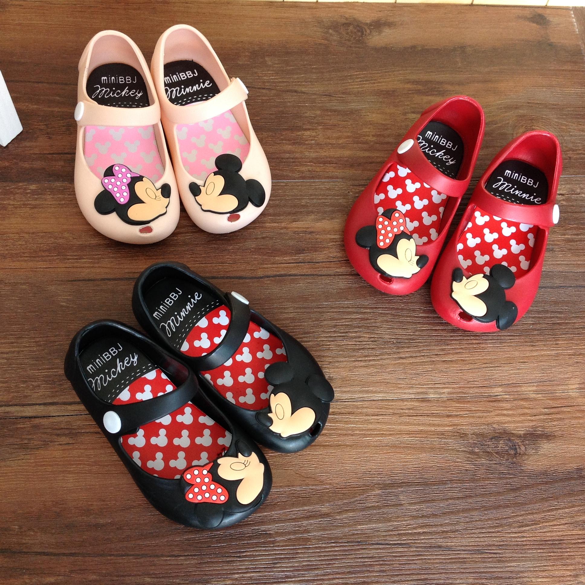 Мелисса Мелисса желе обувь minimiqi мультфильм девочек весной и осенью детей мягкой нижней обувь baby бума