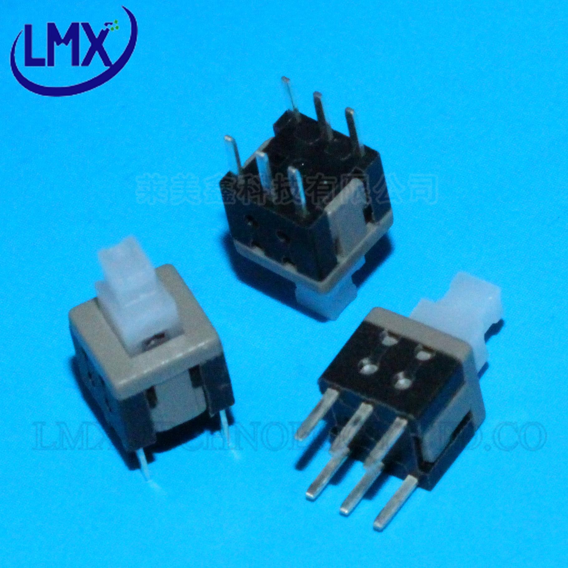 无锁开关 5.8x5.8MM 双排6脚 可配6.5*6.5MM按键帽 量大价优