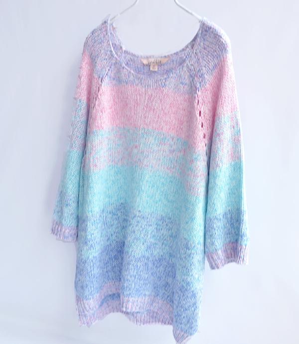 к 2015 году зимний сезон новый женский смешанная линия конфеты в пастельных тонов сладкий элегантный долго вязать свитер платье