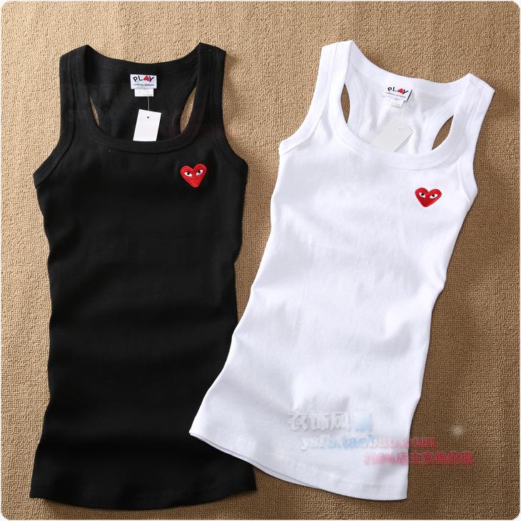 Сердце сердца весной диких тонкий сплошной цвет хлопок повода жилет рубашки в конце-маленький жилет