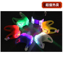 Package mail frog lamp LED bicycle lights dazzle colour taillight handlebar warning lights cycling equipment accessories multicolor specials
