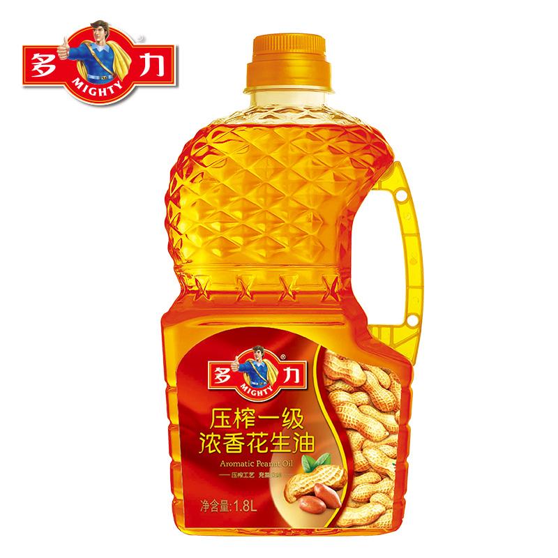 ~天貓超市~多力 壓榨一級濃香花生油 1.8L 物理壓榨 食用油