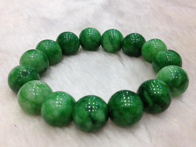雨花石转运手链绿玛瑙绿龙纹送女友男友情侣开运手串创意礼物特色