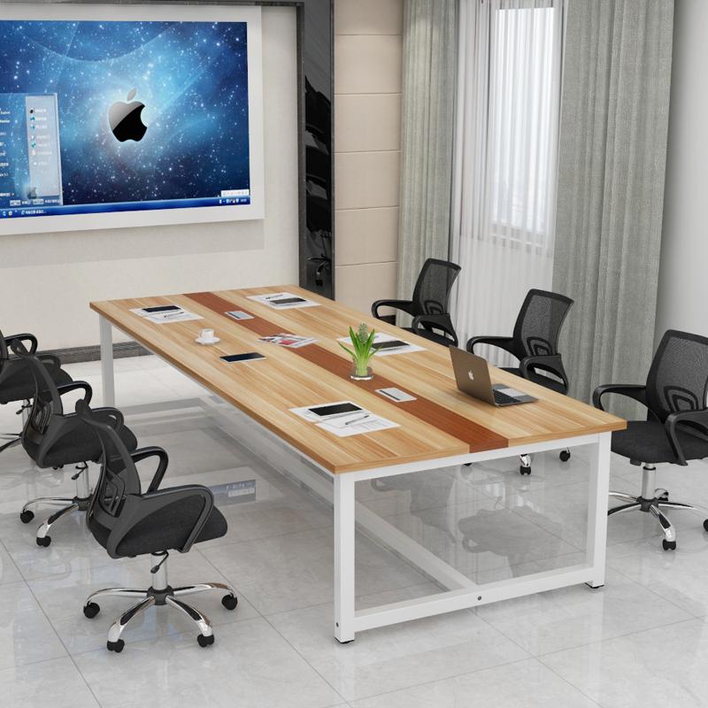 Конференция длинные столы стол простой современный офис член стол работа тайвань прямоугольник стол член работа контакт разговор поезд стол