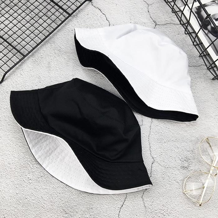纯色两面戴渔夫帽欧美时尚男女帽子热销25件假一赔十
