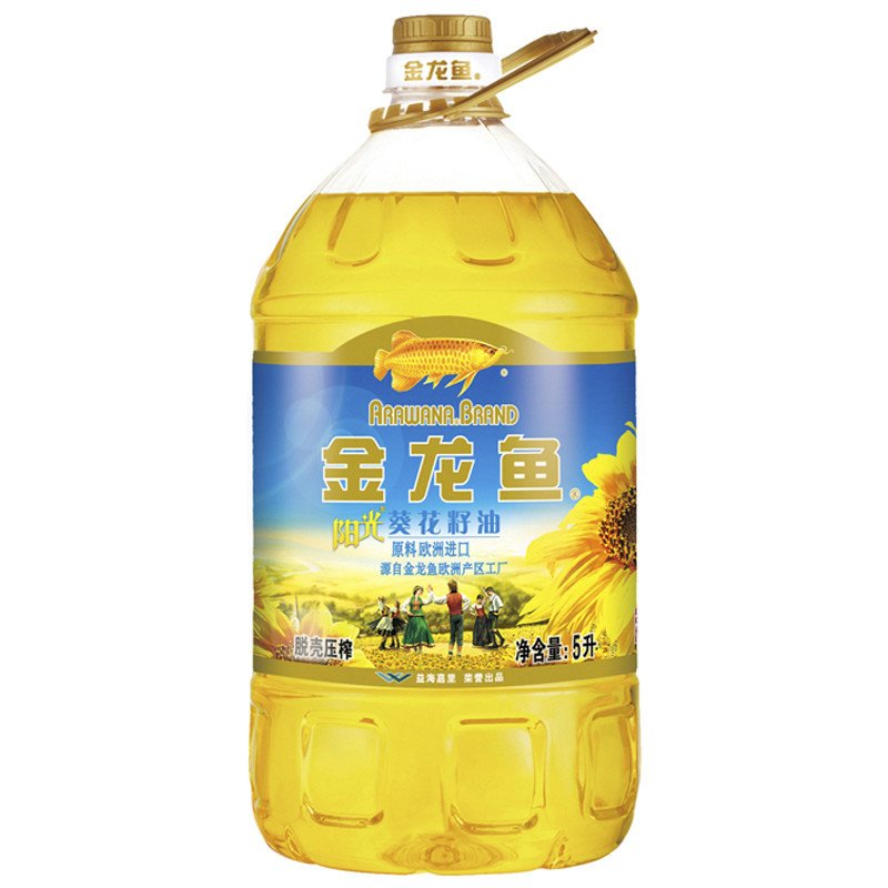 Jinlongyu sunflower seed oil 5L big barrel edible oil vegetable oil physical shelling press crude oil imported from Europe