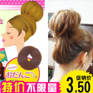 Donuts with sticky plate hairpin plate hair stick Hairdressing tools Hair Styling Dutch head brown 8462