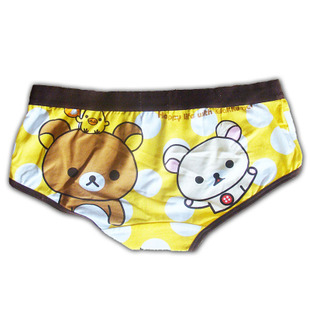 Two cute cartoon bear easily bear cotton underwear female underwear shorts underpants personality of Japanese animation