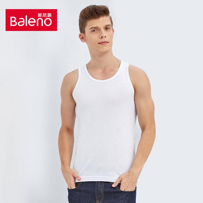 Baleno班尼路夏季紧身圆领背心男士透气纯棉纯色内衣打底88717021