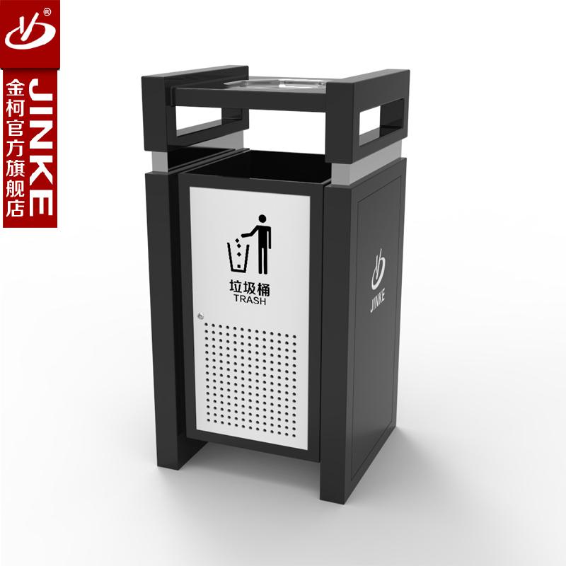 金柯 户外环保垃圾桶 公园景区可贴广告果皮箱 小区可定制果皮桶