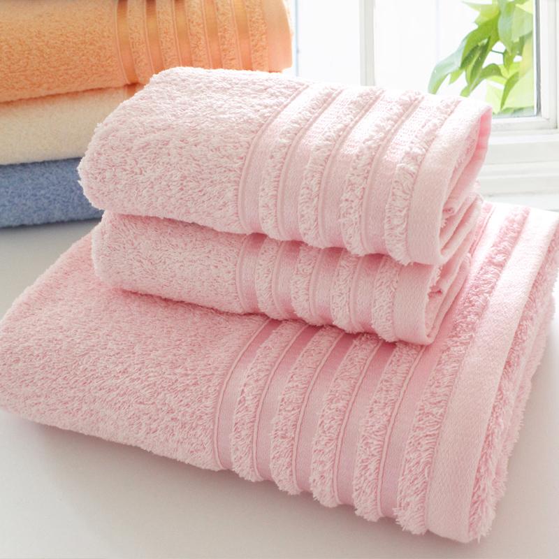 纯棉加厚毛巾浴巾三件套装成人男女情侣家用洗澡套巾加大吸水,可领取3元天猫优惠券