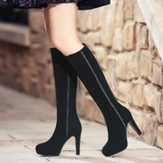 Strange love of autumn and winter leather women boots high platform stilettos boots rhinestone boots boots boots women