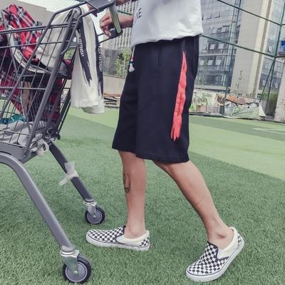 日系情侣休闲港风大码男短裤原宿嘻哈街拍五分裤中裤沙滩裤759P35