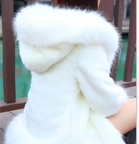2020 winter new slim Haining imitation rabbit hair fox fur grass Hooded Coat medium long long sleeve womens coat